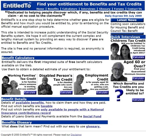 entitledto first website